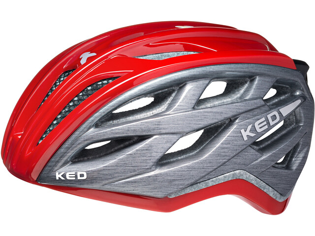 KED Xant Helmet Red Grey